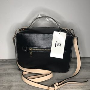 Jessica Moore Black Textured Camera Bag